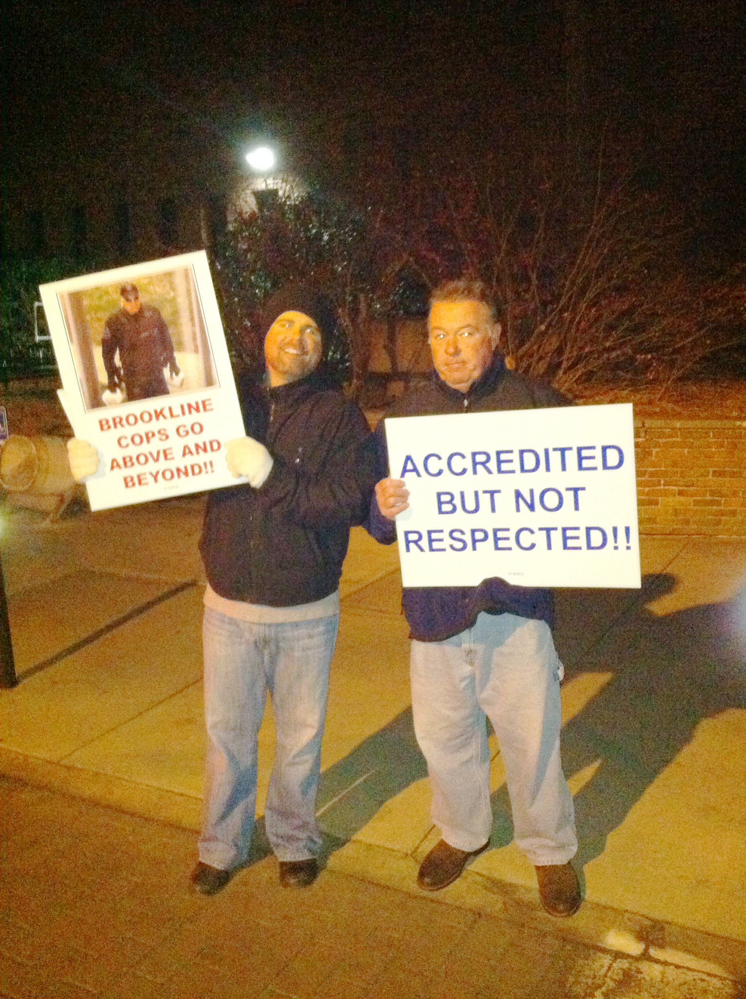 Brookline Police Association Holds Informational Picket at Town Meeting