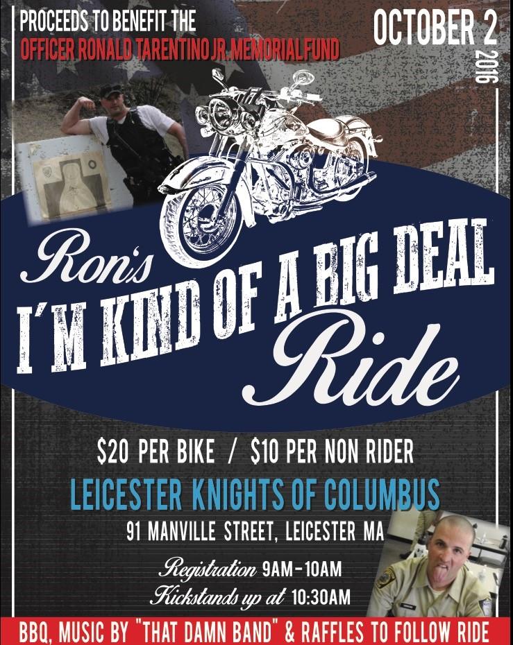 2016 Bike Ride for the Officer Ronald Tarentino Jr. Memorial Fund